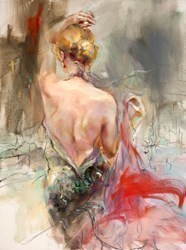 Elegant Muse II by Anna Razumovskaya - Hand Finished Limited Edition on Canvas sized 18x24 inches. Available from Whitewall Galleries